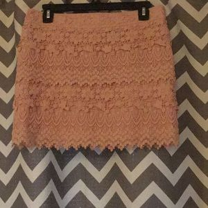 American eagle blush lace mini skirt 2